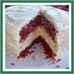 red cake