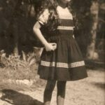"""Weekly Photo: Past times (My mother with her """"rock"""")"""