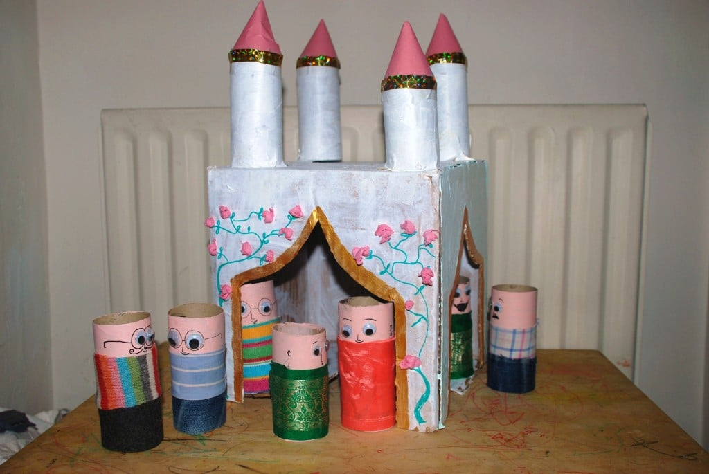 Toilet Paper Roll Craft Castle
