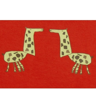 Giraffe Pyjamas (Size 12-18m, Colour Bus Red)