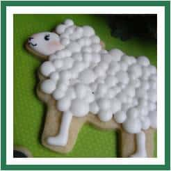 Lamb cookie icing