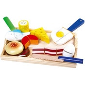 Wooden gourmet food set