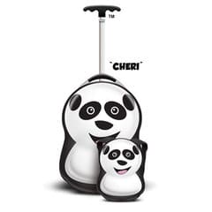 cheri panda  suitcase and backpack  luggage for kids  children's travel accessories