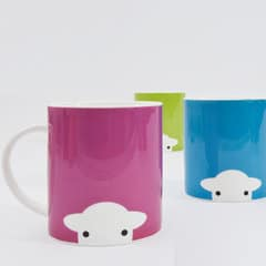 cute peep mug  fine English bone china  herdy
