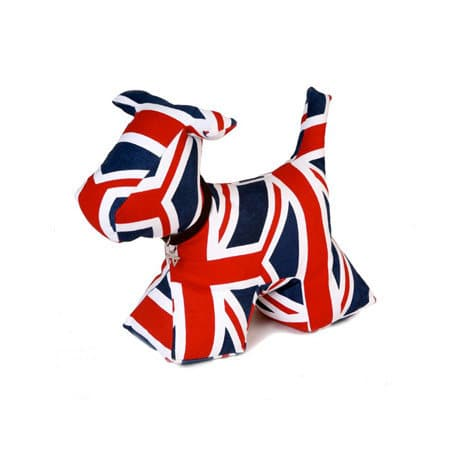 dog doorstop  union jack  £22