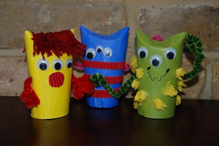 "Super easy and fun MONSTER TP Roll craft. Love these little guys as they are easy, a great way to use up odds and sods AND there is ""no right and wrong"". Perfect little Halloween Craft for Kids. Or make them to keep the night time monsters away!"
