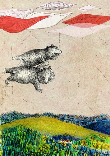 flying bears limited edition archival print