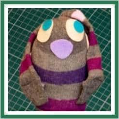 Easy BUNNY CRAFTS: sock bunny