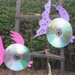 Итак, фальшивки из дисков - фото и воссоздание.  Поглядите, какие оригинальные рыбки могут получиться у вас из...