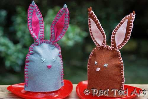 Easy BUNNY CRAFTS: Bunny Egg Cozies
