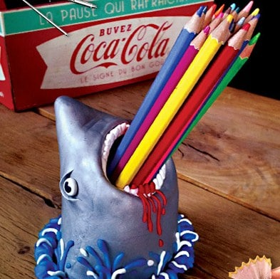 shark craft ideas fimo shark container pencils ted s 2915