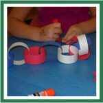 red white blue paper chain