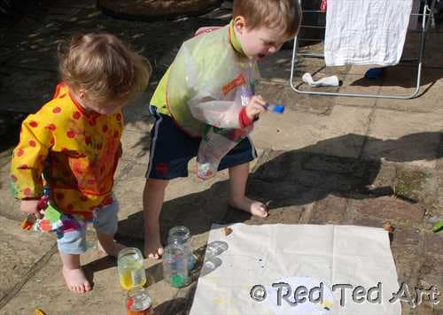 making flags with children
