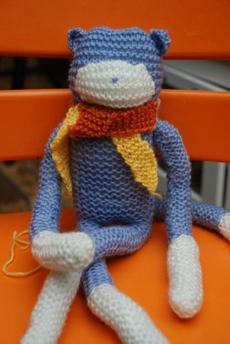 how to knit a monkey