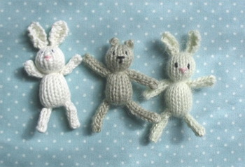 Easy BUNNY CRAFTS: Knit a bunny and a bear