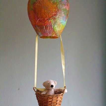 Hot air balloon red ted art 39 s blog for Easy wealth out of waste