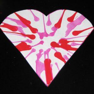 spin art heart