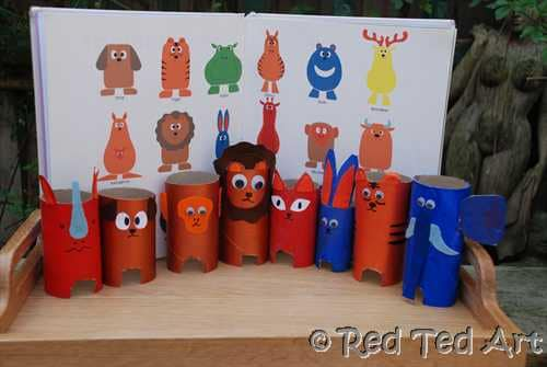toilet roll animals