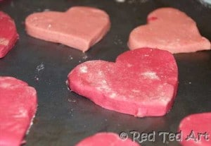 valentines hearts baking