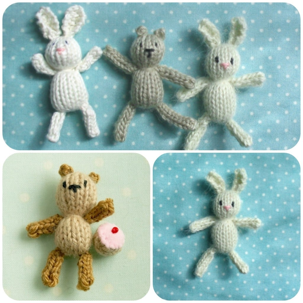 How to... Knit a mini Bunny & Teddy Bear\'s Picnic - Red Ted Art\'s Blog