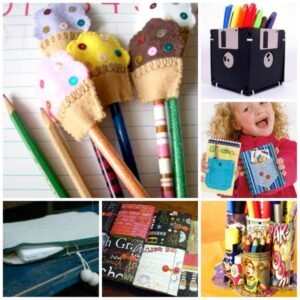 Kawaii Pencil Holder DIY Idea. These Tin Can Pen Pots are super duper quick and easy to make. A great way to get your desk organised for back to school. We love cheap and easy school supplies diys. Hope you like this OH SO EASY Cute Pencil Holder DIY too!