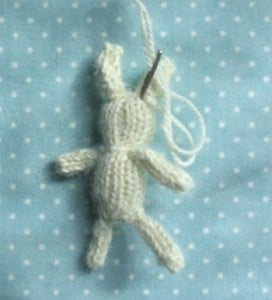 knit a mini bunny rabbit