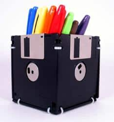 office crafts floppy disc recycle