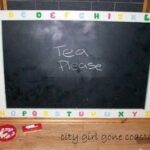 giant black board