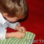 blanket stitch with children