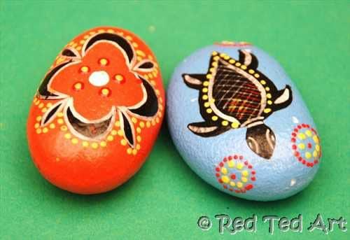 Kids Craft: Indigenous Inspired Good Luck Stones