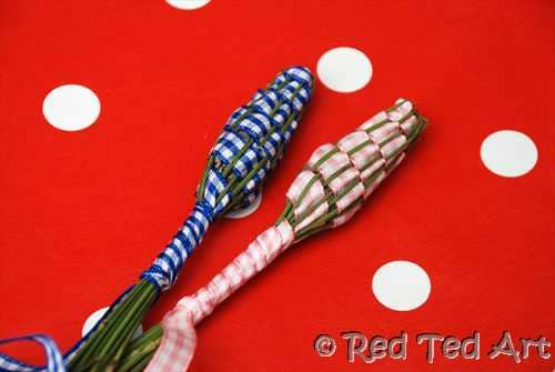 no sew lavender wands