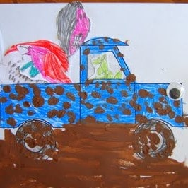 blue truck crafts for boys