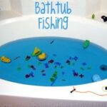 bathtub fishing activity for kids