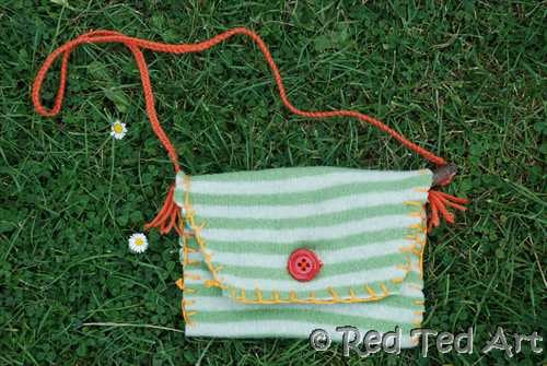 Kids Craft: Nature Pouch/ Sewing with Kids