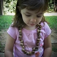 0 autumn crafts acorn necklace