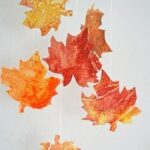 0 autumn crafts crayon leaves