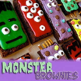 0 autumn crafts monster brownies