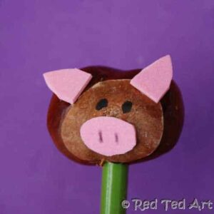 easy and funny crafts: chestnut crafts