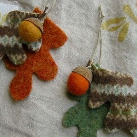 autumn crafts felted acorns how to