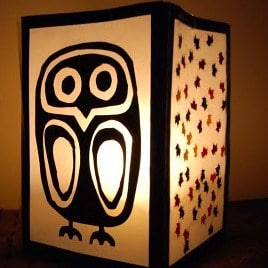 autumn crafts lantern