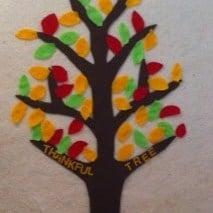 autumn crafts thank you tree