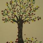 autumn crafts tree painting