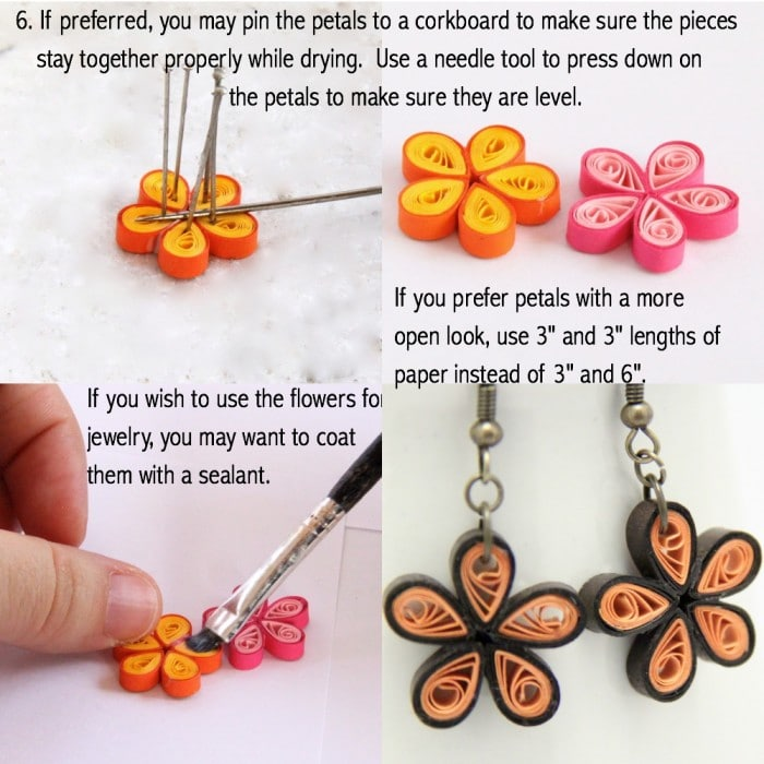 How To Make Paper Quilled Daisy Earring Guest Post Red Ted