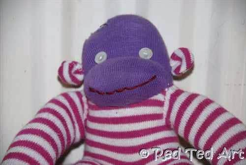 sock monkey detail