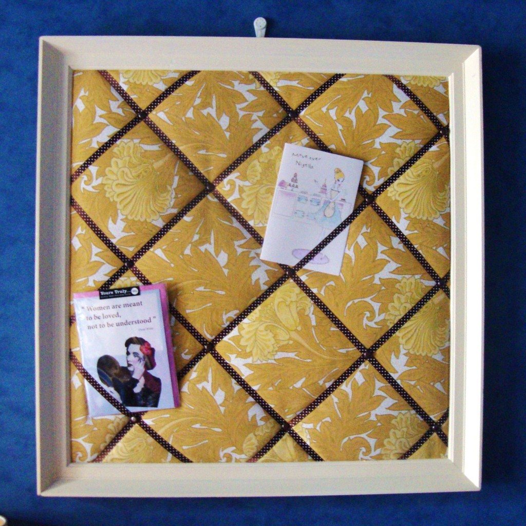 how to make a fabric notice board guest post red