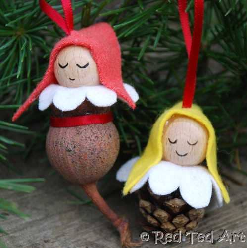 Pinecone Elves from Red Ted Art