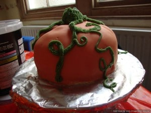 autumn crafts pumpkin cake