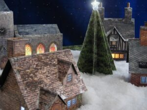 Christmas Village close up