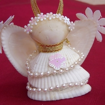 Shell angel craft red ted art 39 s blog for Shell art and craft