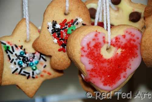 Kids Crafts Edible Christmas Ornaments Red Ted Art